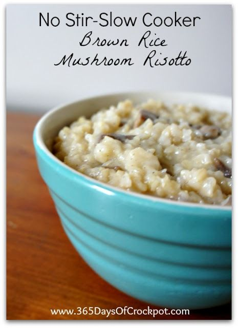 A deliciously easy side dish that is very low maintenance compared to a normal risotto recipe! Makes 6 servings Ideal slow cooker size:  3-4 quart 1 cup diced onion (1/2 of 1 large onion) 2 Tbsp butter 1 garlic clove, minced 8 oz sliced mushrooms 1 cup long grained brown rice 1/2 cup broth (or …
