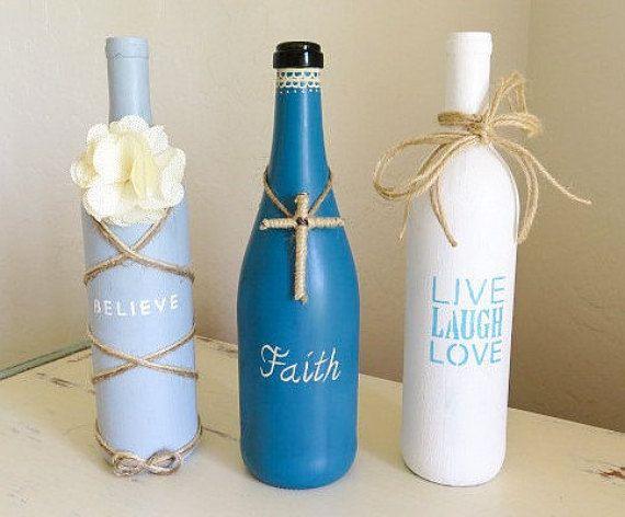 Best 25+ Recycled wine bottles ideas on Pinterest | Bottle ...