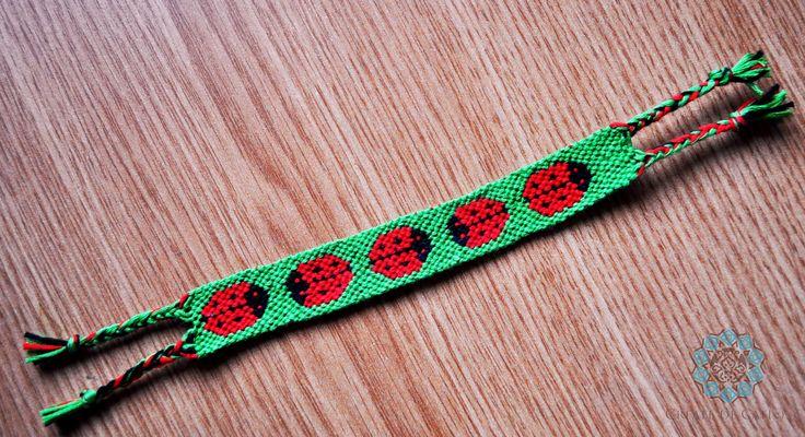 Friendship bracelets - lady bugs pattern