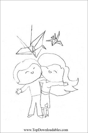 detailed wedding first anniversary coloring pages
