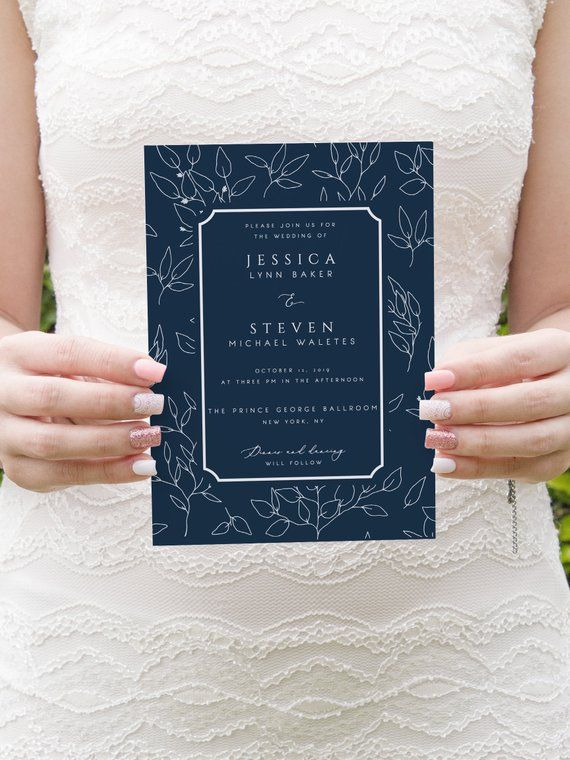 wedding invitation size template