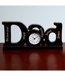 Personalized DAD clock.  $29.99