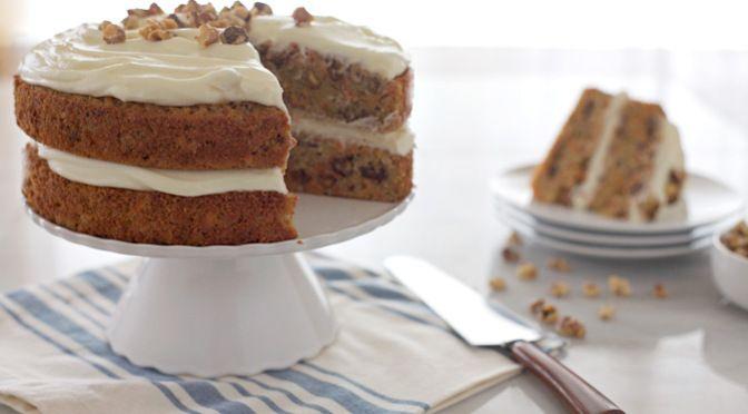 Carrot Cake with Bourbon Cream Cheese Frosting | BourbonandHoney.com