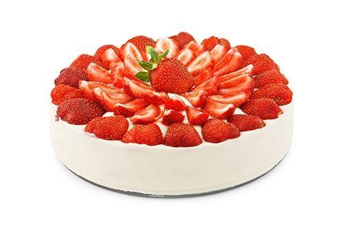 Receta de Tarta de Yogurt y Fresas