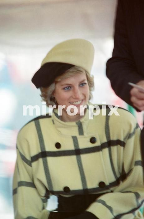 December 6 1988 Princess Diana enroute, on the ferry to The Isle of Wight for the launching of the ship 'Vigilant' at Cowes, Isle of Wight