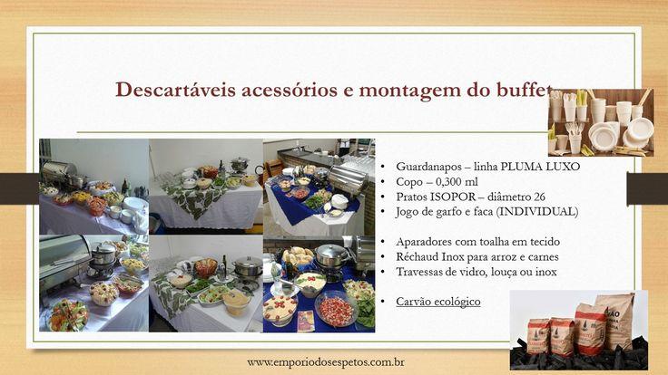 PROMOÇÃO 100 PESSOAS - Serviço Completo de Buffet à domicílio