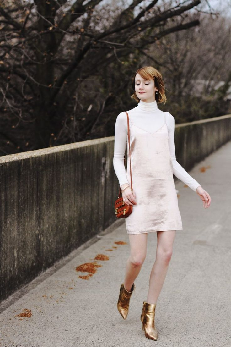 Reef camisole outfit and variation idea: lengthen into dress and wear over Rowan turtleneck