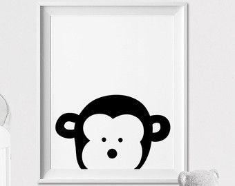Kindergarten-Animal-print tragen Wandkunst von ArtFilesVicky