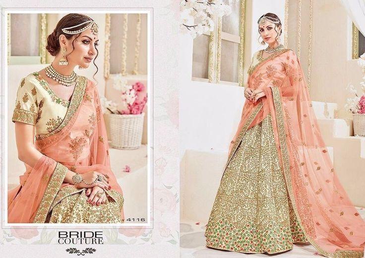 Bridal satin silk sari design indian latest wedding wear buy saree lehenga choli #DESIGNER #SariSaree