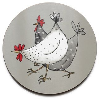 Tablemat - Wacky Chicken - Jersey Pottery Leuke afbeelding om te appliqueren