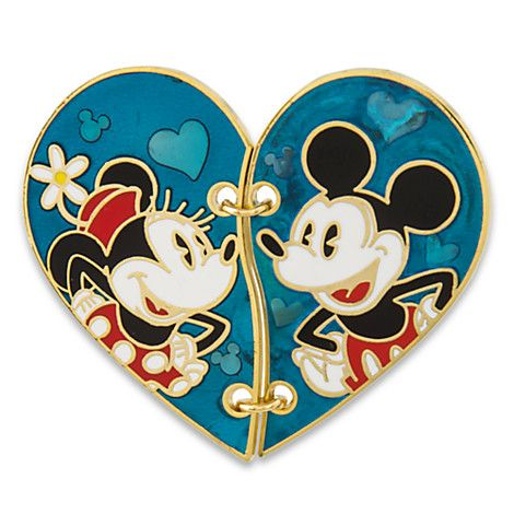 Mickey and Minnie Mouse ''Broken Heart'' Pin Set