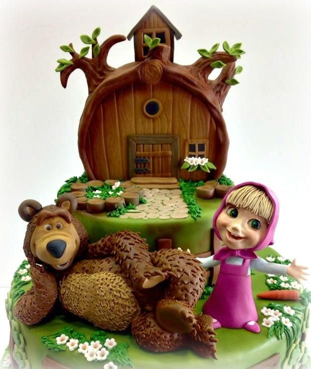 Masha+and+the+Bear+-+Cake+by+Patrizia+Laureti+LUXURY+CAKE+DESIGN