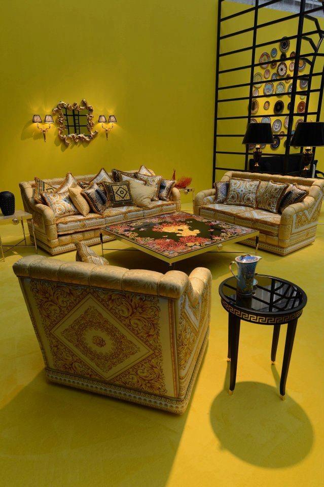 40 best versace furniture images on pinterest - Versace living room design ...