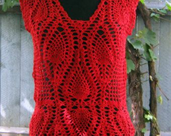 great top made using pineapple crochet pattern.