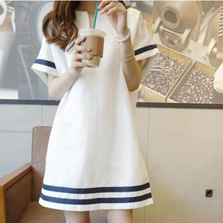 Short-Sleeve Striped Dress from #YesStyle <3 Fashion Street YesStyle.com