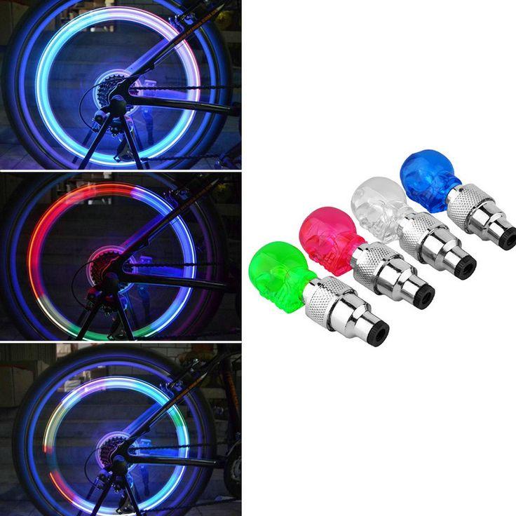 Led lampu Sepeda New 1 Keren Sepeda Lampu Menginstal pada Sepeda atau Sepeda Ban Katup Sepeda Aksesoris Bycicle Led Cahaya gratis pengiriman