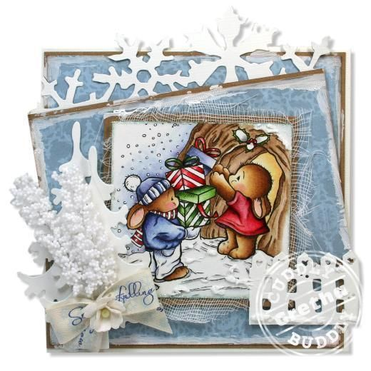 Pachela Studios Digi Stamp - Toby Tumble Home for Christmas < Craft Shop | Cuddly Buddly Crafts