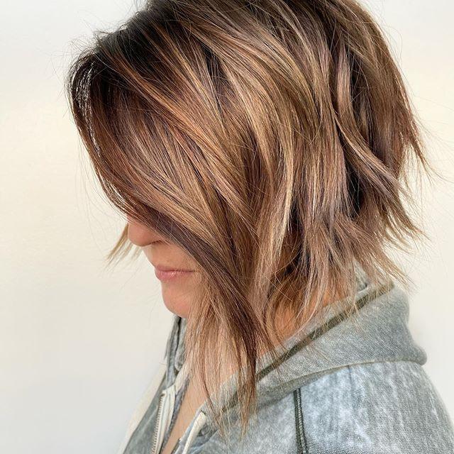 Haare braune highlights kurze mit Kurze Schwarze