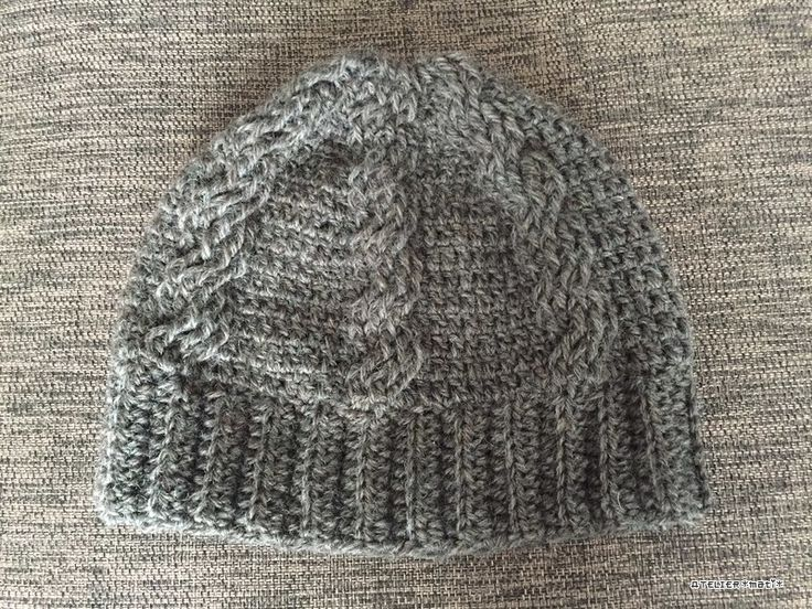 Crocheted Cable Beanie with directions and chart