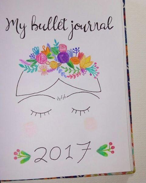 Bullet Journal 2017 cover page portada @bujoar