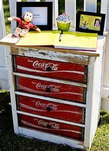 Repurposed vintage coca cola coke crate drawers