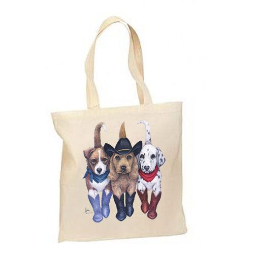 Western Cowboy Dogs – Lightweight Tote