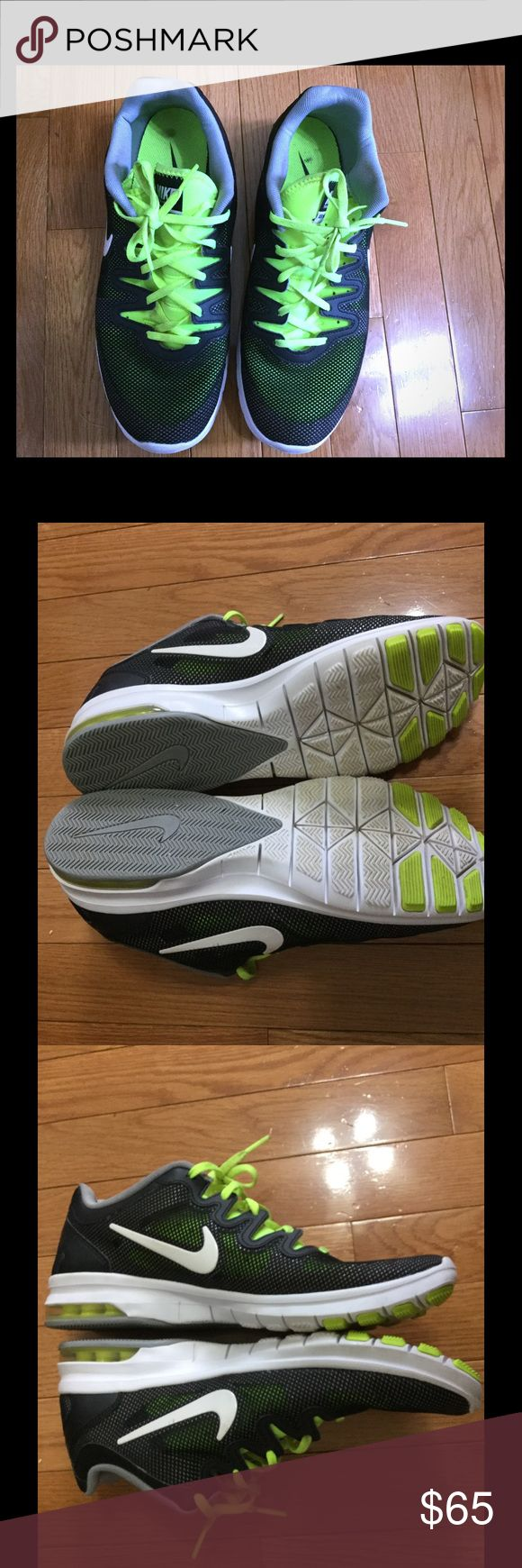 Nike training Air Max a Fusion Airm max training mesh. Wore about 10x.. Please if you have any question don't hesitate to ask. If interested please make an offer thru offer button. NO TRADES. thank you! Nike Shoes Sneakers
