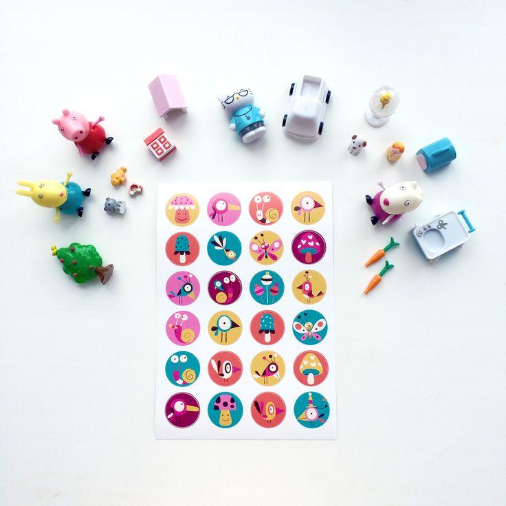 Sticks #stickers #sticks #kids #children #animals #birds #thepaperhome_forkids #thepaperhome