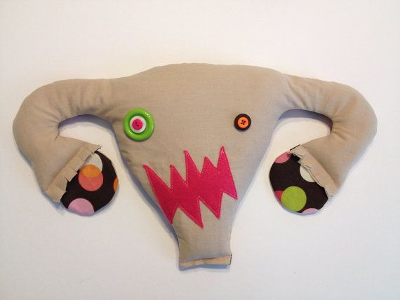 Angry Uterus microwaveable heating pad by ladybitsdesign on Etsy. I TOTALLY WANT THIS