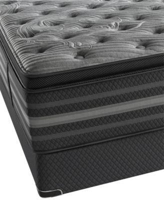 Beautyrest Black Lillian Luxury Firm Pillow Top King Mattress Set | macys.com