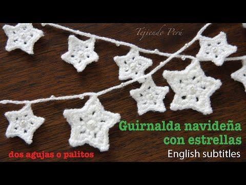 Como tejer Estrellas faciles de navidad en tejido crochet, tutorial paso a paso. - YouTube