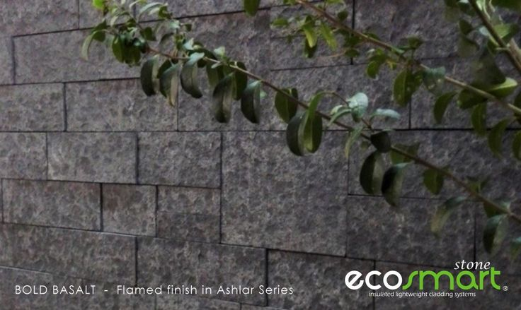 Bold basalt stone cladding veneer in a flamed finish for a fabulous stand out home build.