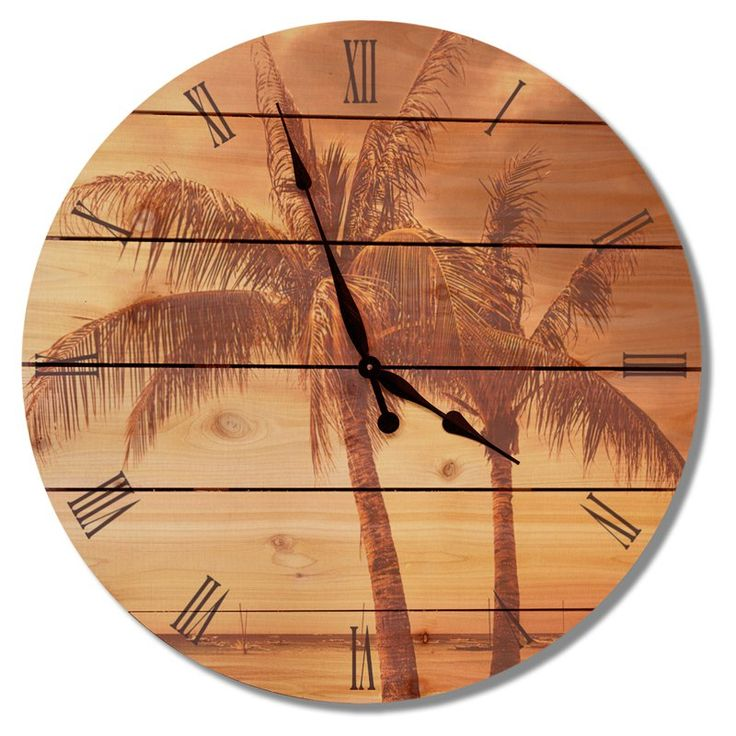 Gizaun Art Vintage Tropic Outdoor Wall Clock - VTC30