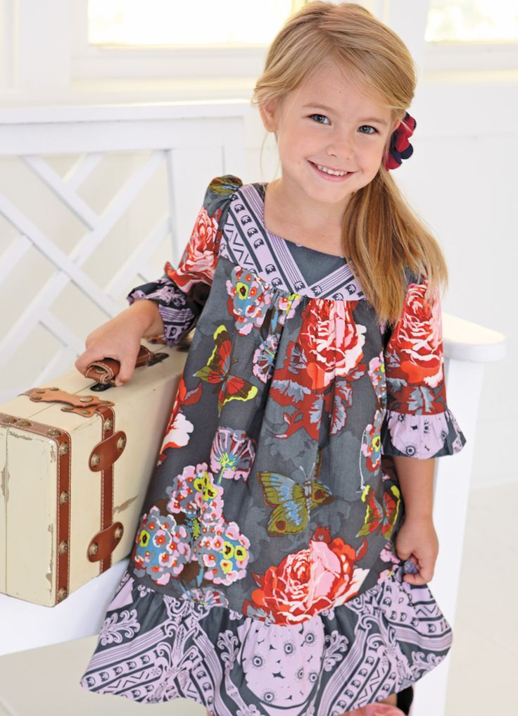 Girls Clothing by Blue Juniper: Flowers Ruffles, Color