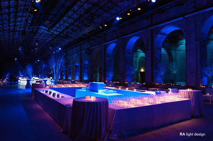 Lights for a corporate events at Stazione Leopolda Florence  www.ralightdesign.com