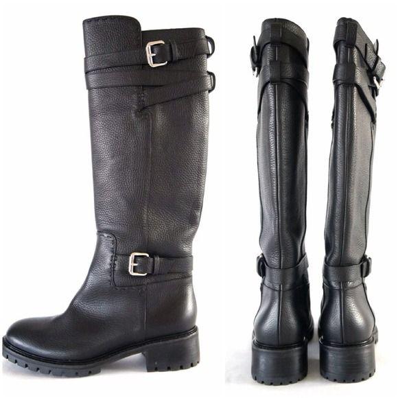 Fendi Black Nubuck Engineer Boots 3CDAQsnb