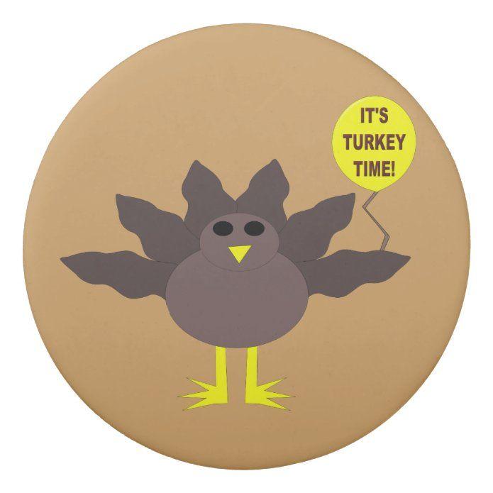 Turkey Time Thanksgiving Earser Eraser Zazzle Com Custom Holiday Card Turkey Time Christmas Card Holders