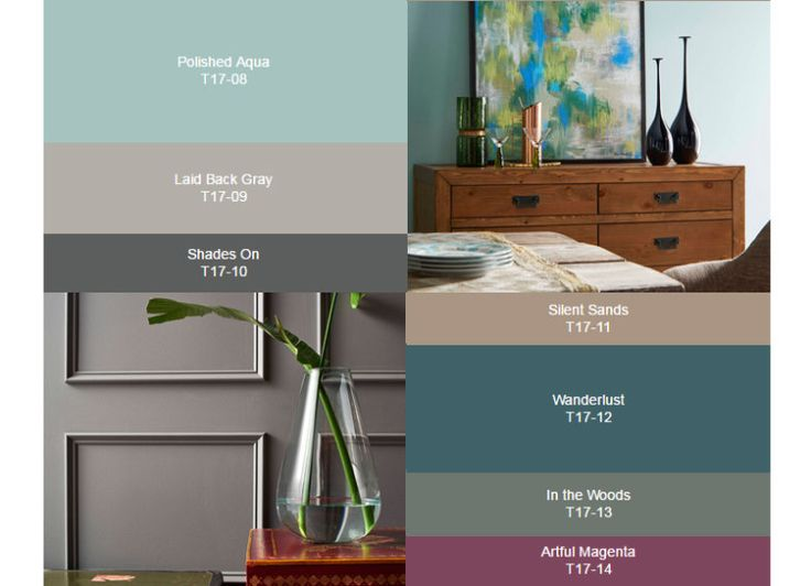 A marca de tintas Behr escolheu 20 cores que bombarão no décor em 2017, divididas entre três paletas de cores nomeadas com sentimentos