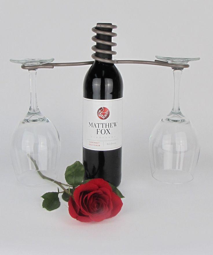 wine bottle 2 stem glass holder products pinterest bottle wine and wine bottles. Black Bedroom Furniture Sets. Home Design Ideas