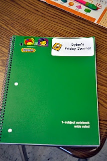 Friday Journals--kids write a note on Friday to their parents telling what they learned that week. The parents write a short response back to their child, and the child brings the notebook back Monday. Each parent response earns a sticker for the cover.  Cute.
