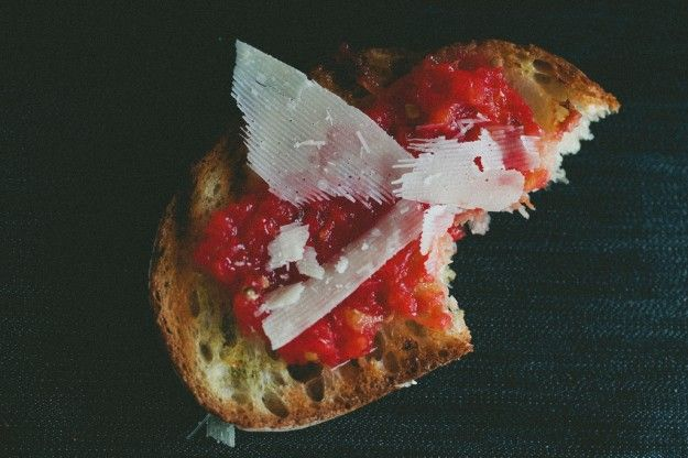 tomato toast with parmesan via not without salt