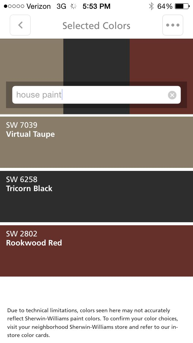 House virtual taupe trim white shutters tricorn black - Virtual paint your house exterior ...