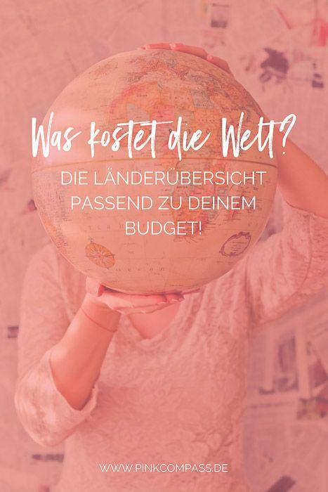 Weltreise planen? – Ganz einfach mit dieser Länderübersicht für Dein Budget!