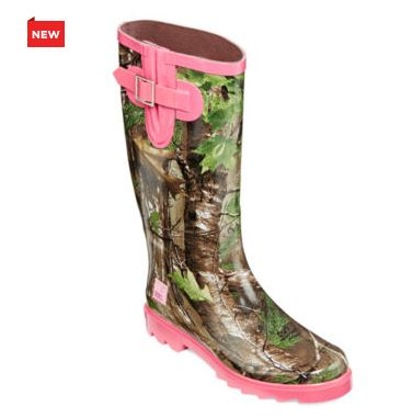 Awesome Realtree Pink Boots Womens Pink Realtree Camo Rubber Rain Boots Price