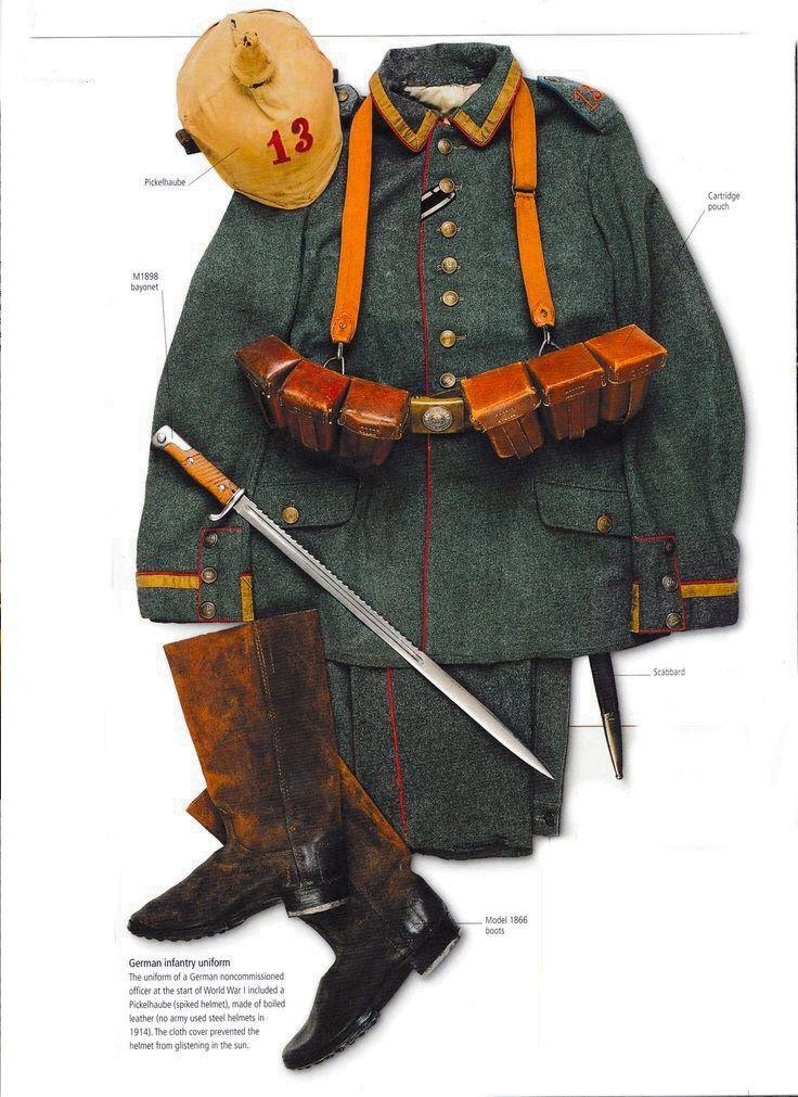 WWI German Infantry uniform