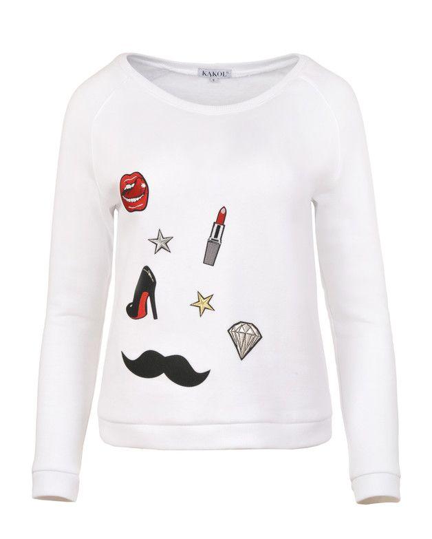 Bluza wlepki/ badges blouse