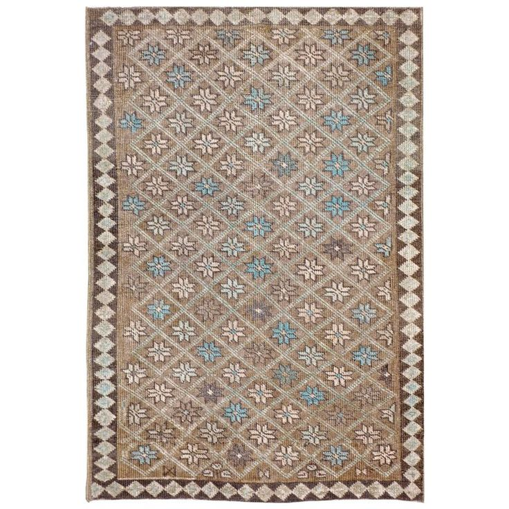 Vintage Persian Tabriz Rug   From a unique collection of antique and modern persian rugs at https://www.1stdibs.com/furniture/rugs-carpets/persian-rugs/