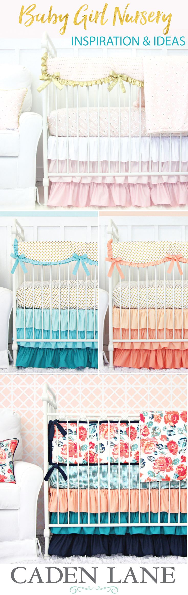 136 best Baby Girl Nursery Ideas images on Pinterest | Baby crib ...