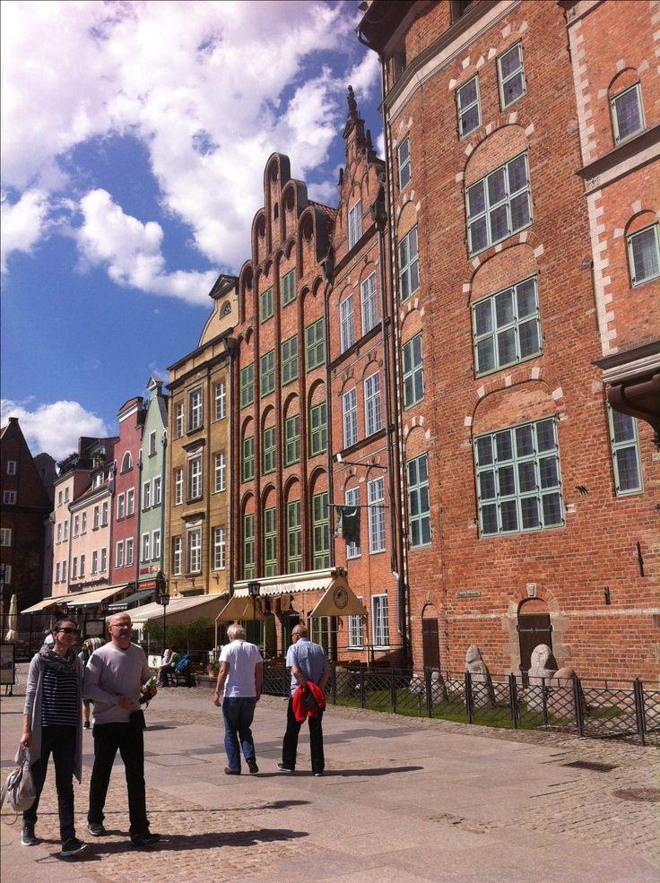 Kleurrijke huizen in Gdansk, Polen. Een stedentriptip!