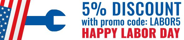 Labor Day 5% Discount on all products on Labor day 2016